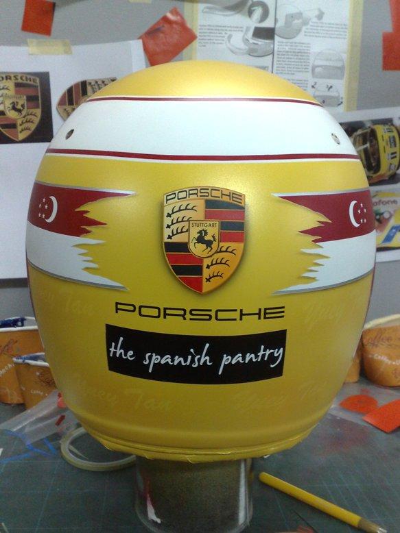 Porsche Club Racer S Race Car Helmet Arai Gp 5w Aire Pro